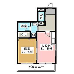アヴェニール錦町[1階]の間取り
