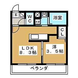 NICO麻生[2階]の間取り