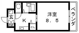 ロータリーマンション長田東[303号室号室]の間取り