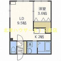 SAKURA コンフォートM (サクラ コンフォート) 3階1LDKの間取り