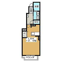 プチ・パステークII[1階]の間取り