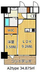 THE HILLS KOKURA[12階]の間取り