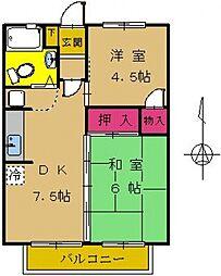 東京都町田市南成瀬3丁目の賃貸マンションの間取り