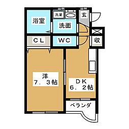 ツインズ前平II[1階]の間取り