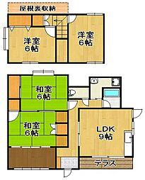 [一戸建] 福岡県福岡市城南区長尾2丁目 の賃貸【/】の間取り