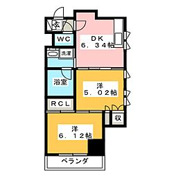 静岡七間町エンブルコート[2階]の間取り