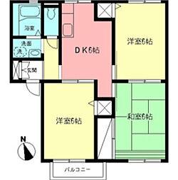 神奈川県厚木市戸室4丁目の賃貸アパートの間取り
