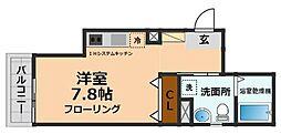 京王井の頭線 永福町駅 徒歩6分の賃貸マンション 3階1Kの間取り