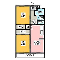 杉浦マンション[3階]の間取り