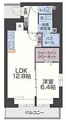 ヴァンクオーレ 3階1LDKの間取り