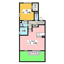 ドマーニ[1階]の間取り