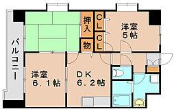 シャトレMK[4階]の間取り