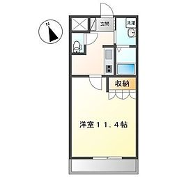 JR高崎線 本庄駅 徒歩35分の賃貸アパート 1階1Kの間取り