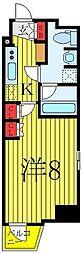 都営三田線 西巣鴨駅 徒歩5分の賃貸マンション 12階1Kの間取り