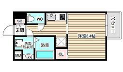 サムティ姫島LUMETO 10階1Kの間取り