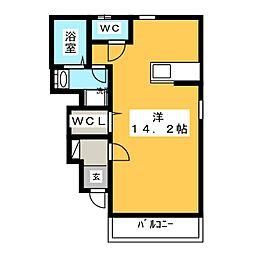 サニーサイド岡II[1階]の間取り