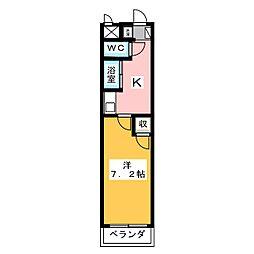 タートルヒルズ岡崎[2階]の間取り