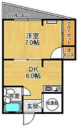 ロイヤル北口マンション[3階]の間取り