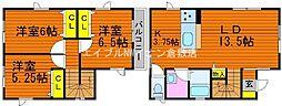 [一戸建] 岡山県倉敷市大内丁目なし の賃貸【/】の間取り