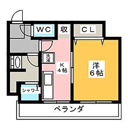 ボンオグラビル[3階]の間取り