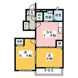 サンパティークI[1階]の間取り