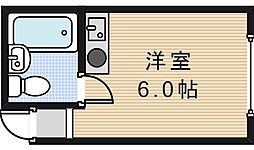 サンフラワー駒川[4階]の間取り
