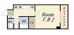 大阪府大阪市港区築港1丁目の賃貸マンションの間取り