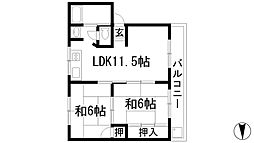 瀬川ハイツ[1階]の間取り