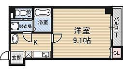 プライムコート東三国[4階]の間取り