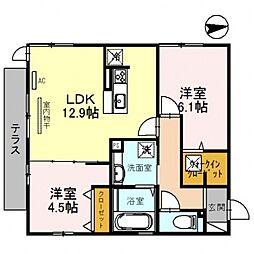 仮)D-room沢田2丁目[101号室号室]の間取り