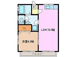 三重県鈴鹿市平野町の賃貸マンションの間取り