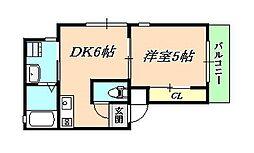 兵庫県神戸市垂水区星陵台1丁目の賃貸アパートの間取り