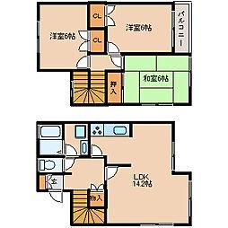 [タウンハウス] 福岡県筑紫野市大字筑紫 の賃貸【/】の間取り