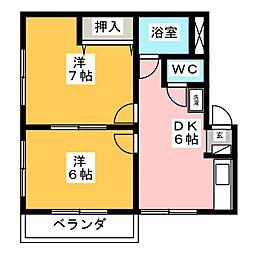 コーポB[2階]の間取り