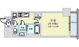 Osaka Metro中央線 阿波座駅 徒歩1分の賃貸マンション 10階1Kの間取り