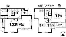 [テラスハウス] 兵庫県川西市東多田1丁目 の賃貸【/】の間取り
