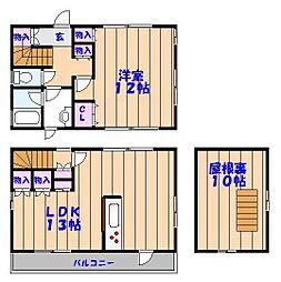 [一戸建] 千葉県船橋市上山町1丁目 の賃貸【/】の間取り