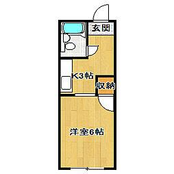 小倉ハイツ[3階]の間取り