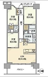 BrillaCity横浜磯子K[7階]の間取り