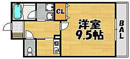 Comfortable川西[207号室]の間取り