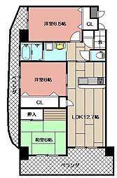 サンシャイン長崎街道黒崎[701号室]の間取り