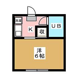 ハイツコスギ2号館[1階]の間取り