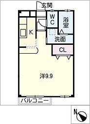 メゾン・マジョラム B[2階]の間取り
