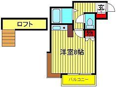 野田カサベラ2番館[203号室]の間取り