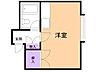 間取り,1DK,面積19.44m2,賃料2.3万円,JR根室本線 東釧路駅 徒歩4分,,北海道釧路市貝塚2丁目