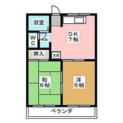 ファミール港明[1階]の間取り