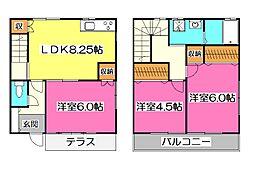[テラスハウス] 埼玉県入間市大字下藤沢 の賃貸【/】の間取り