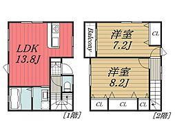[テラスハウス] 千葉県千葉市中央区蘇我2丁目 の賃貸【/】の間取り