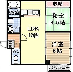 エクセルメゾン瀬田[305号室号室]の間取り