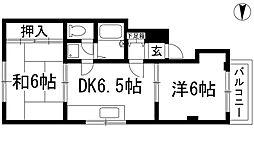 サンロイヤルオザキ[3階]の間取り